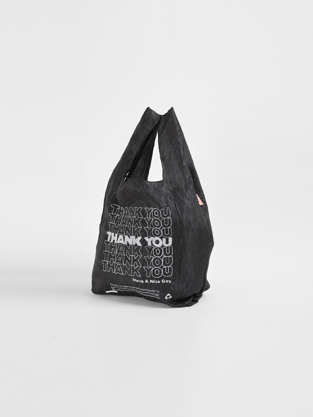 MINI Thank You Tote - Thank You White On Black Fablic【LIMITED ITEM】
