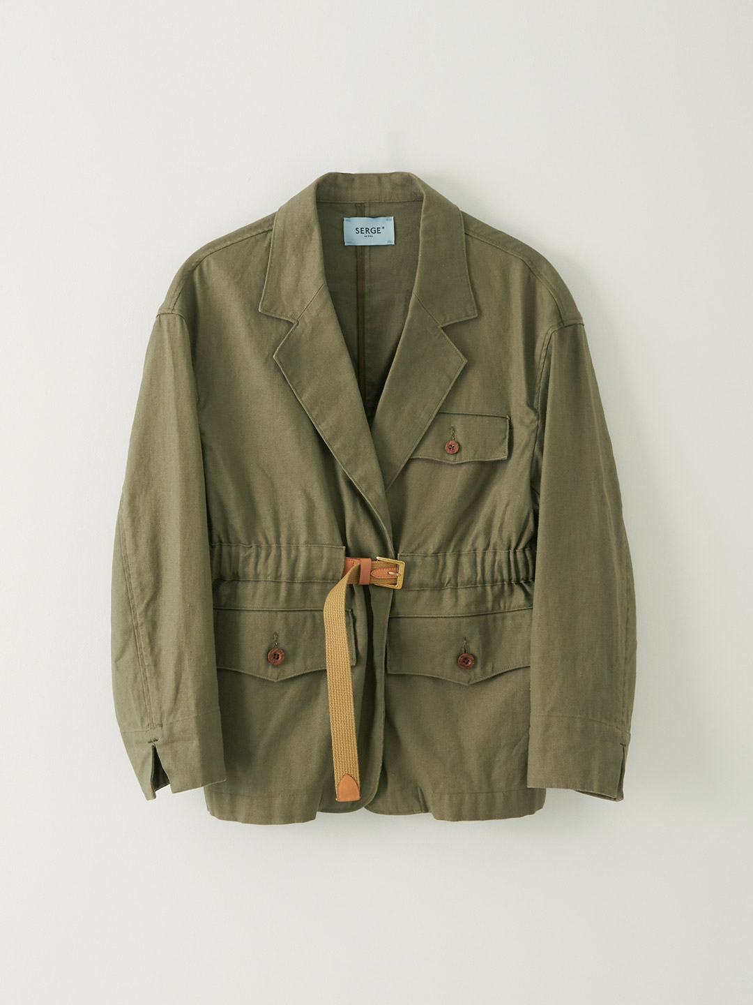 Belt Jacket - Dry Khaki