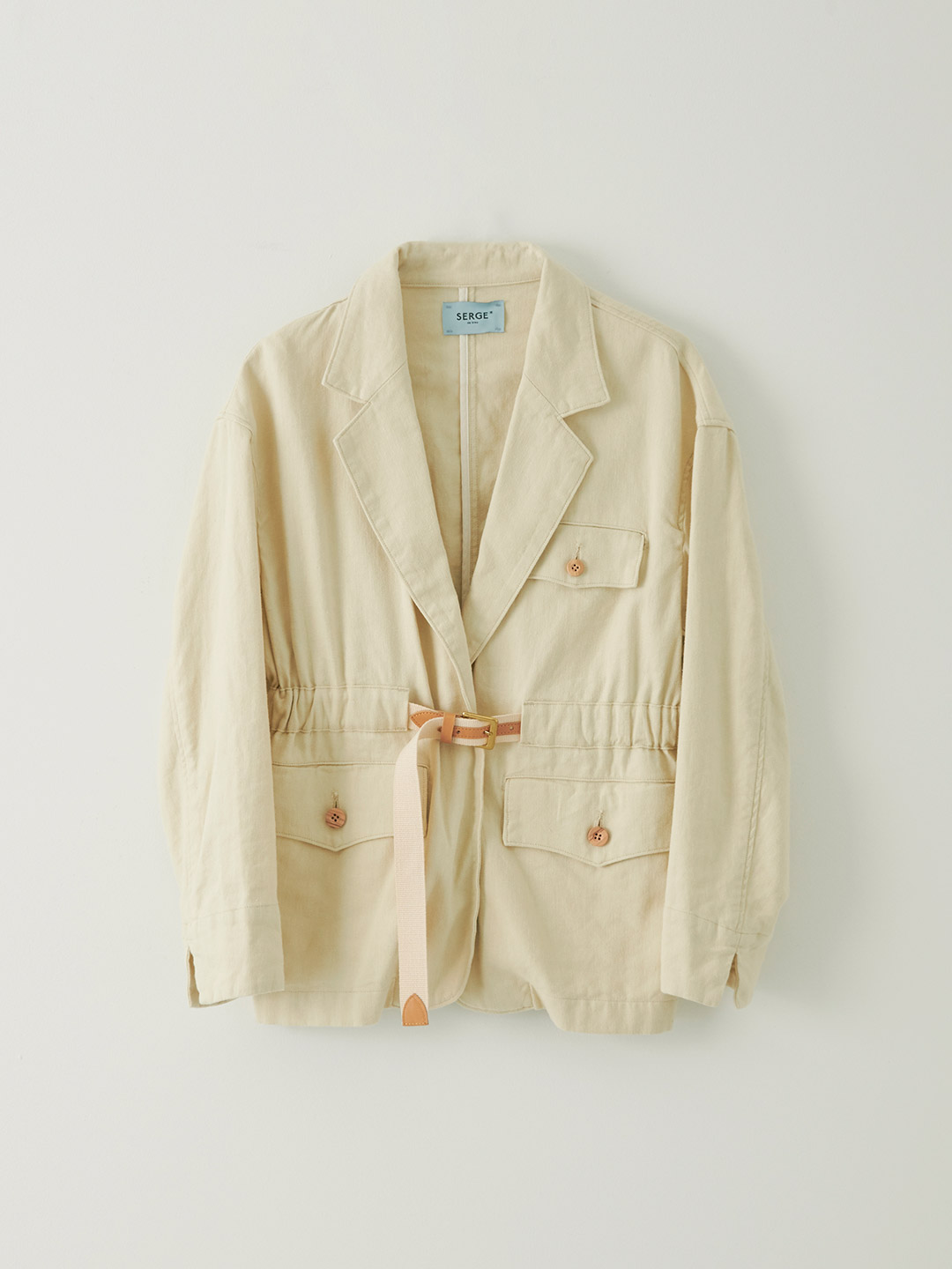 Belt Jacket - Dry Sand Beige