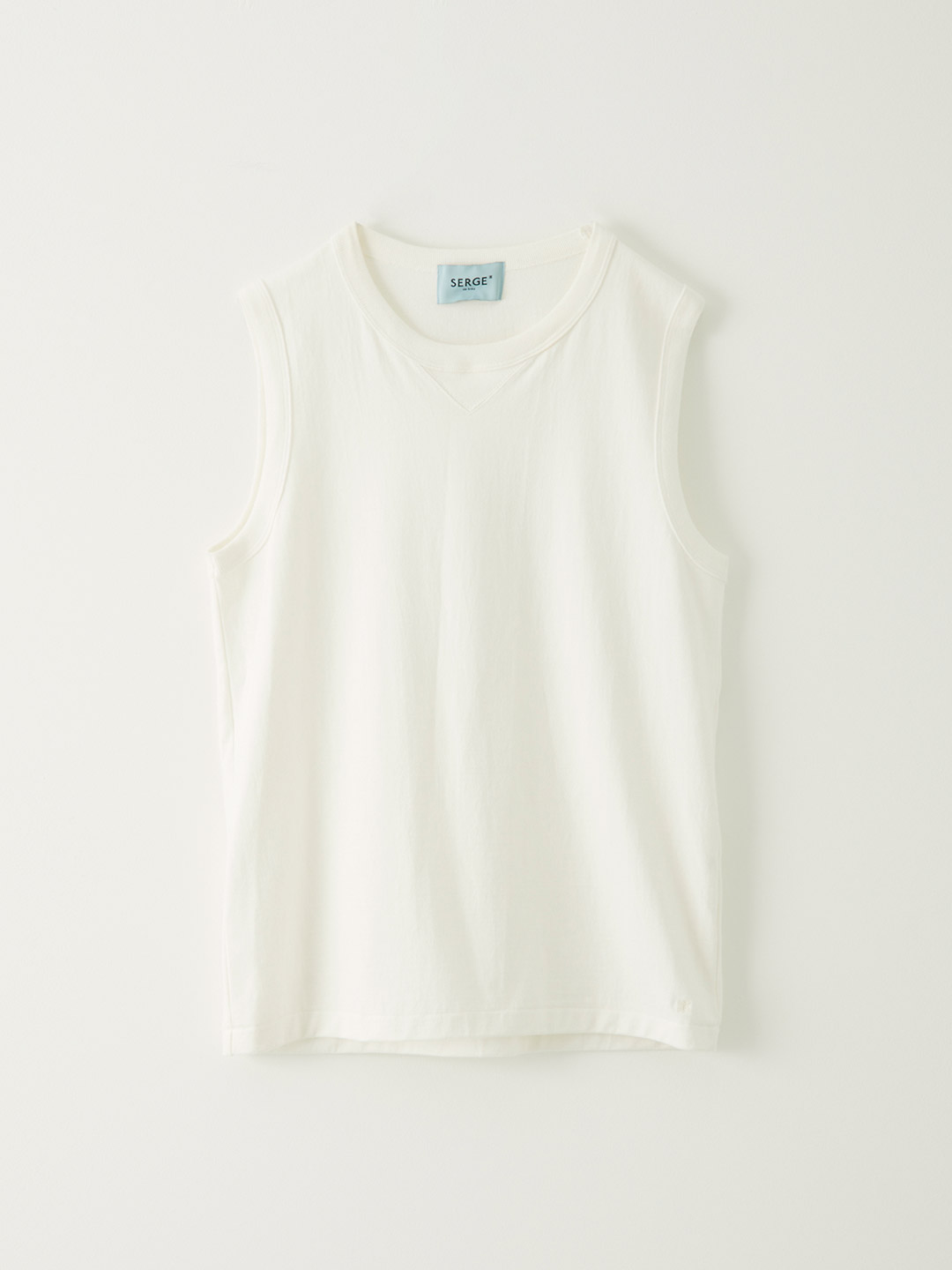 Military SLeeve Less-T - White