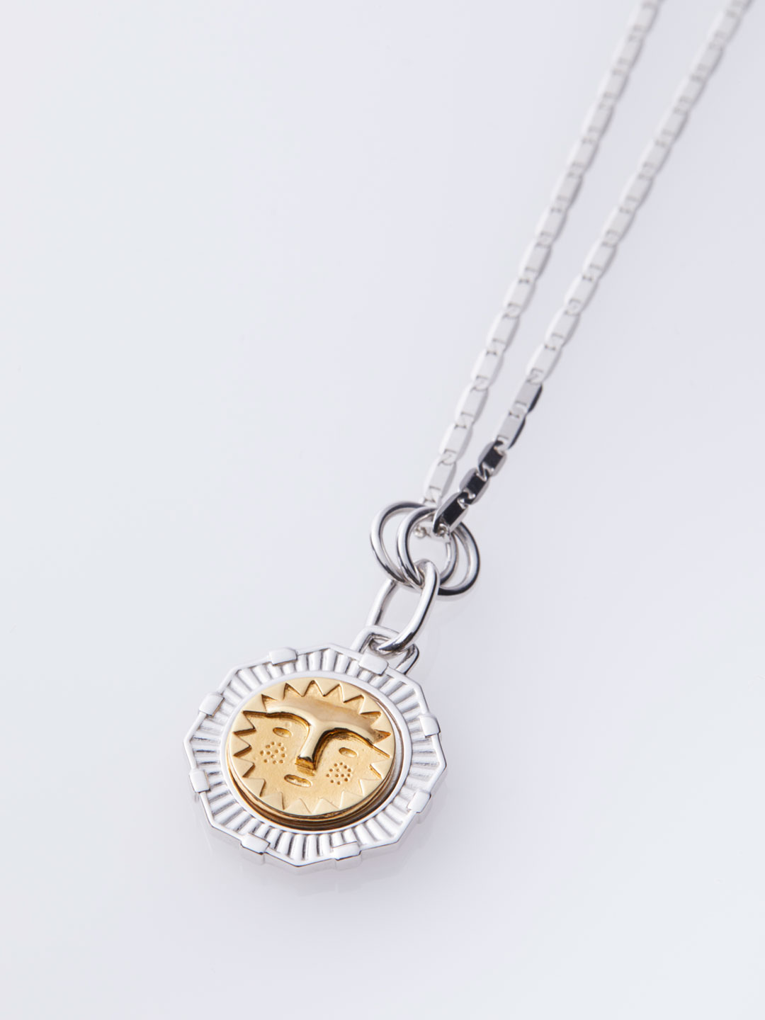 Life Coin Gold Necklace - Silver