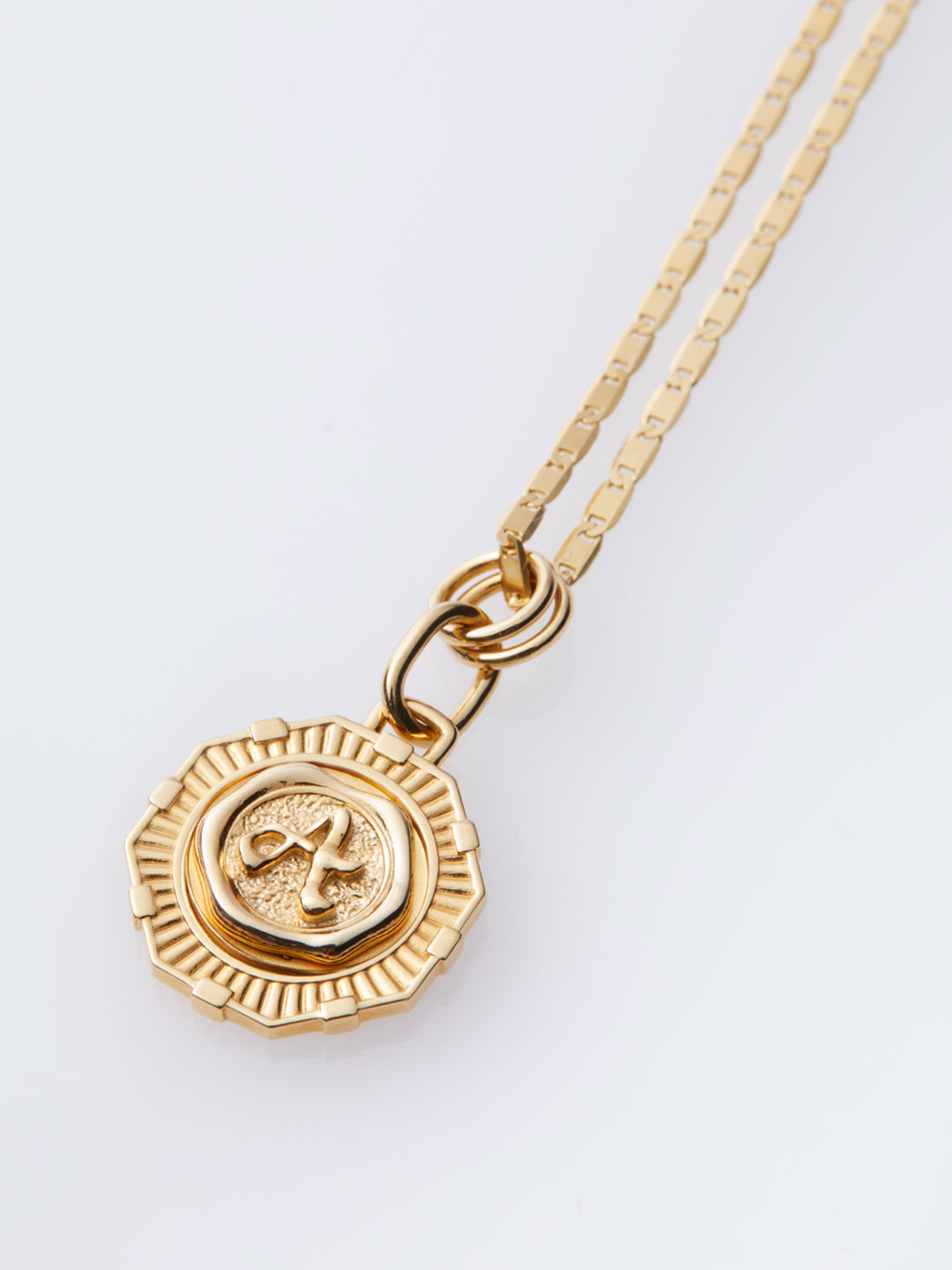Alphabet Coin Necklace - Gold
