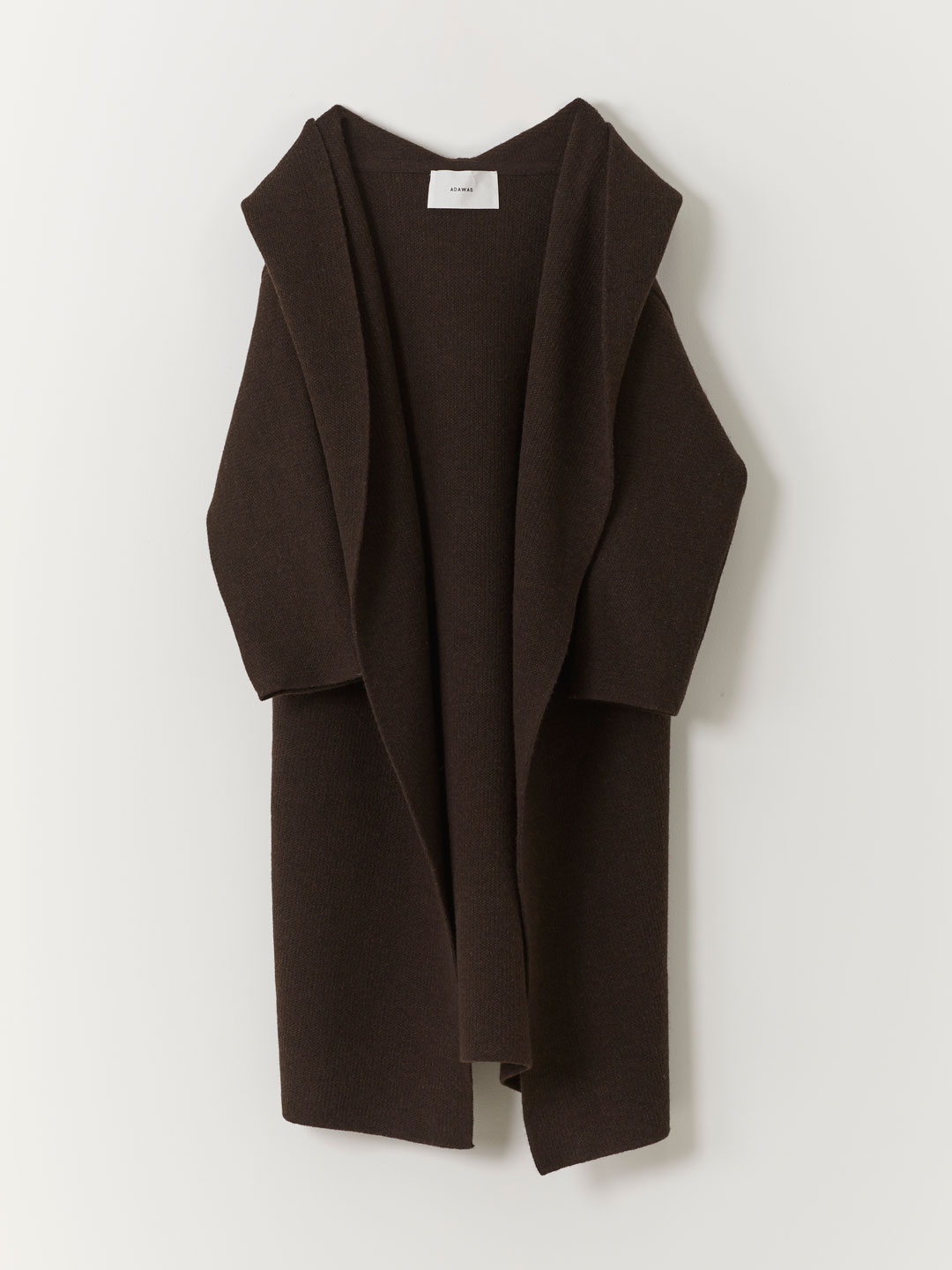 Airy Spongish Hooded Cardigan  - Brown