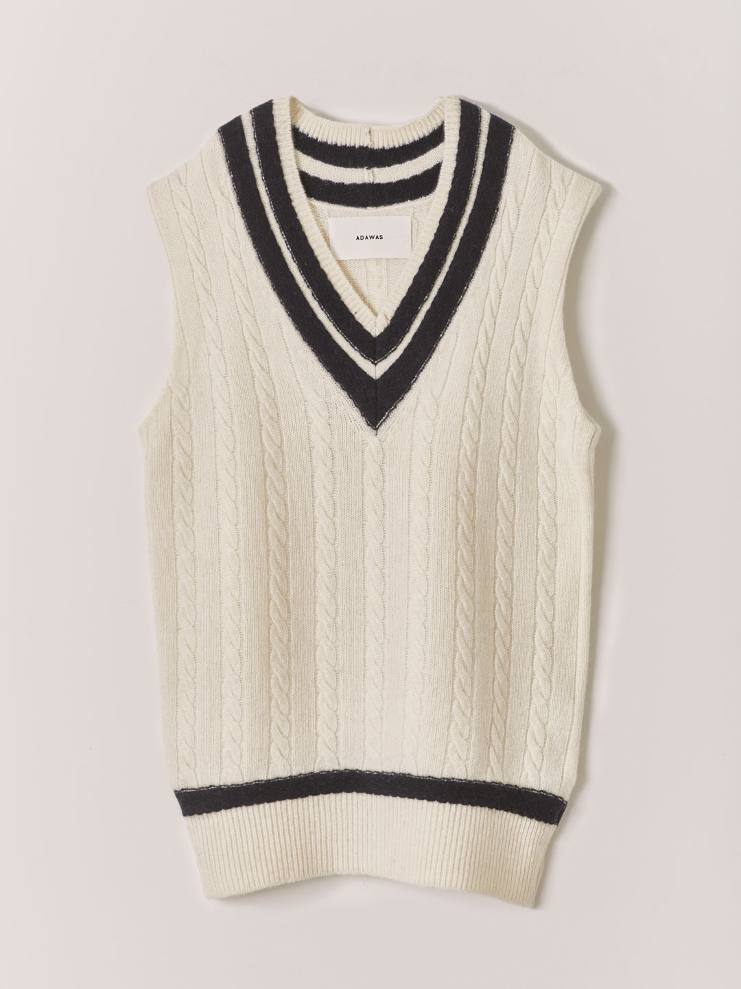 New Traditional Tilden Knit  - White