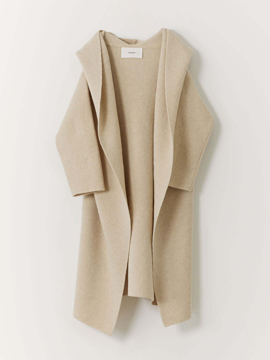Airy Spongish Hooded Cardigan  - Beige