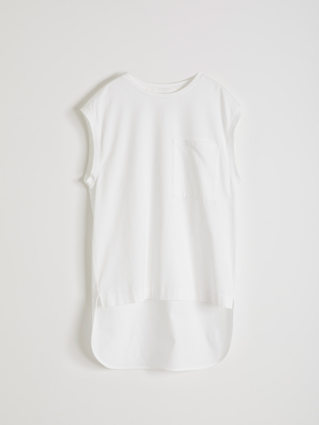 French Sleeve T-shirt - White