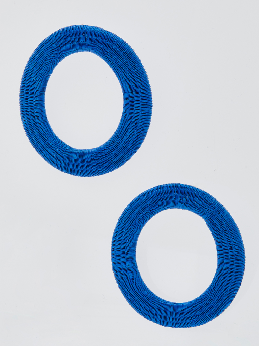 Olivia Large Hoops - Blue