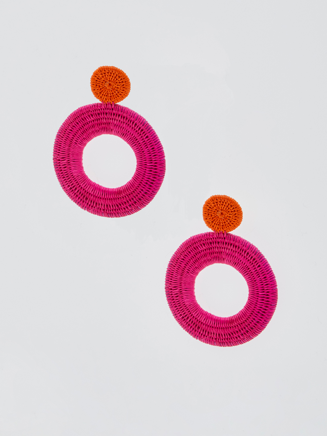 Octavia Pierced Earrings - Pink