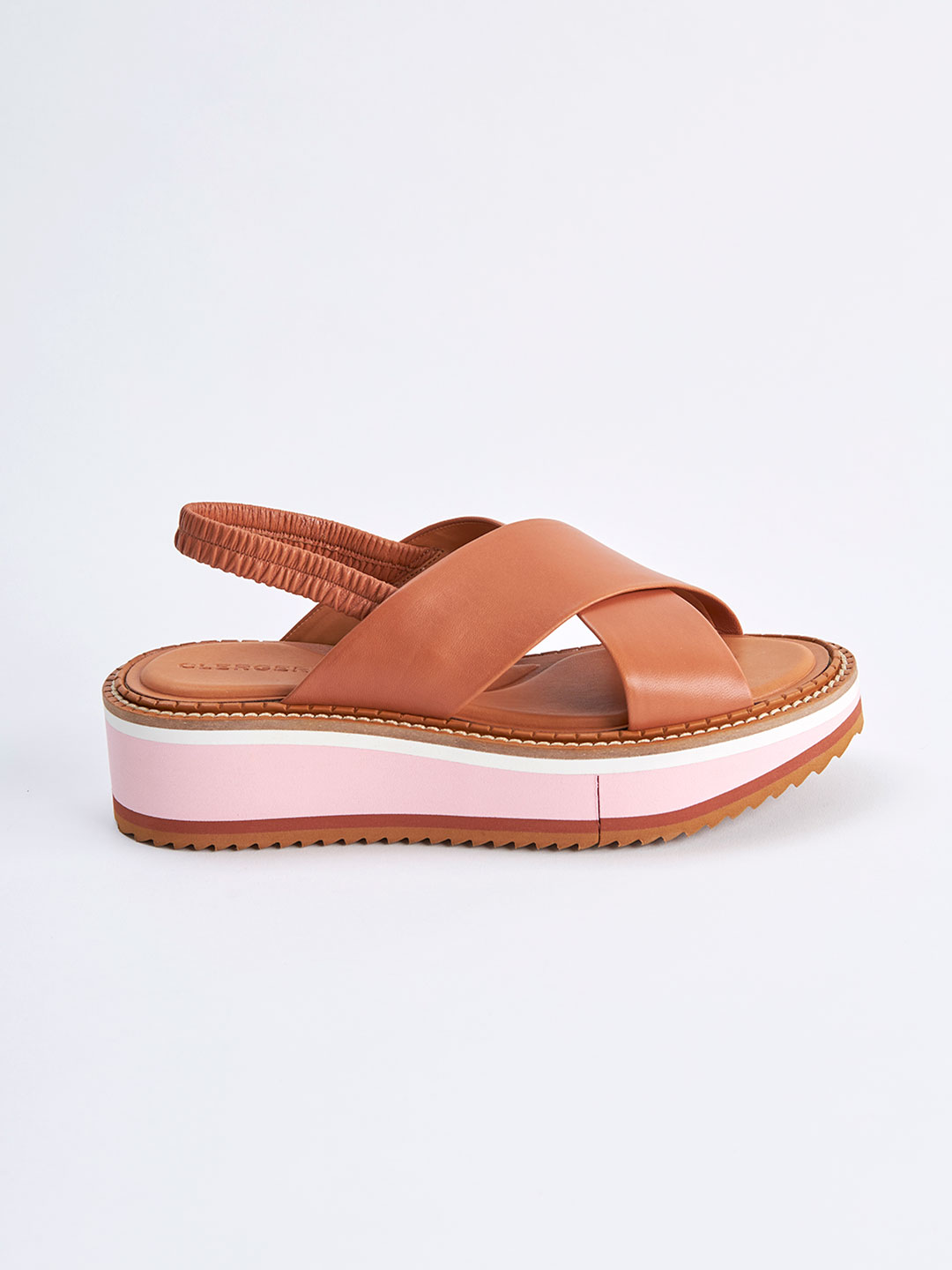 FREEDOM3 Cross Strap Sandals - Brown