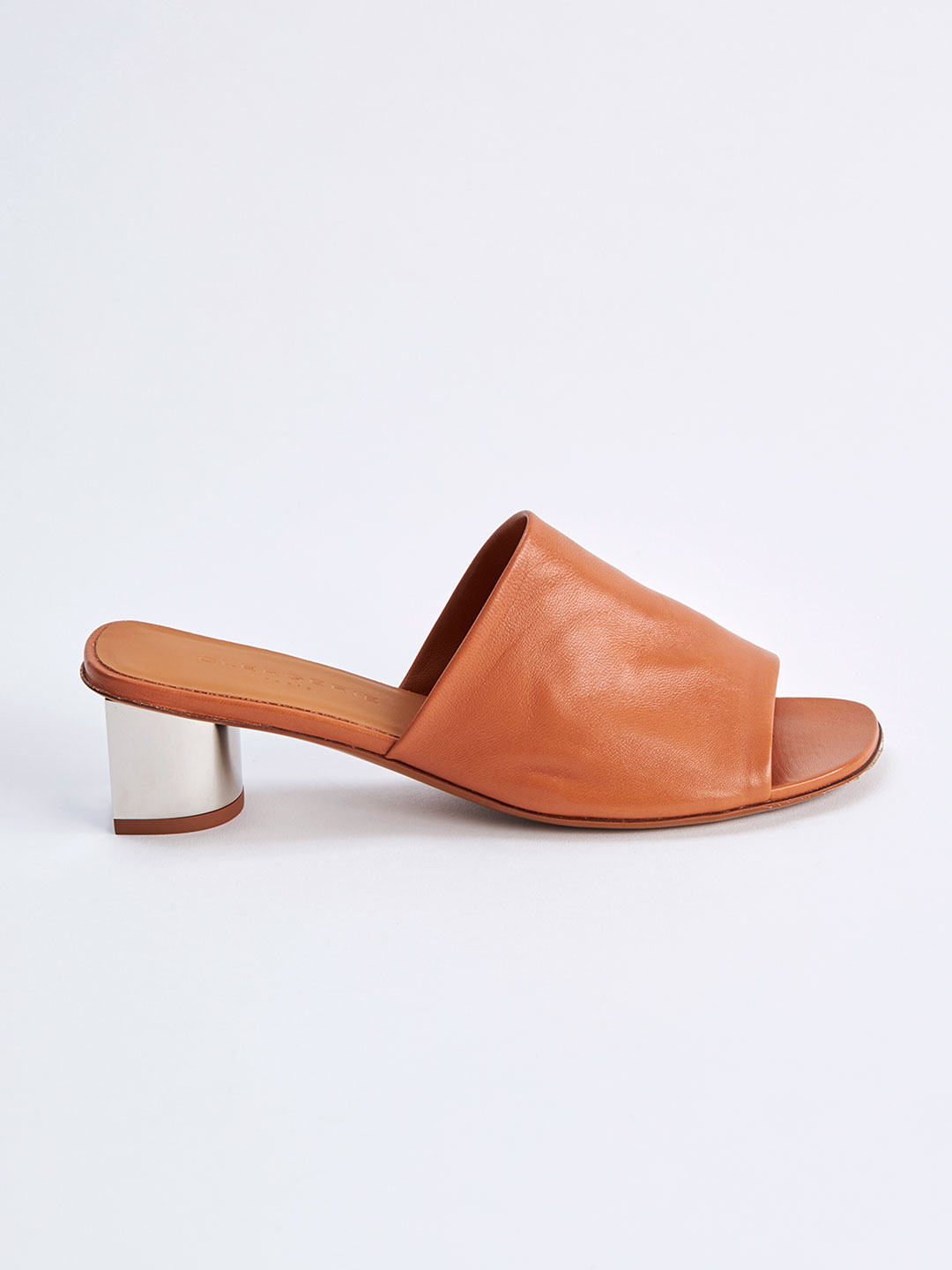 LEA Middle Heel Mules - Brown