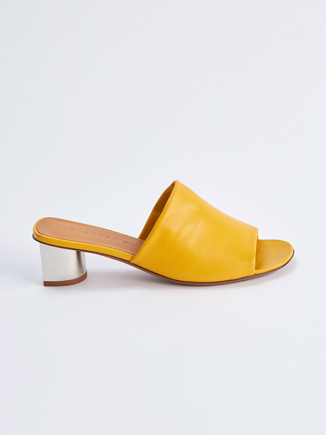 LEA Middle Heel Mules - Yellow