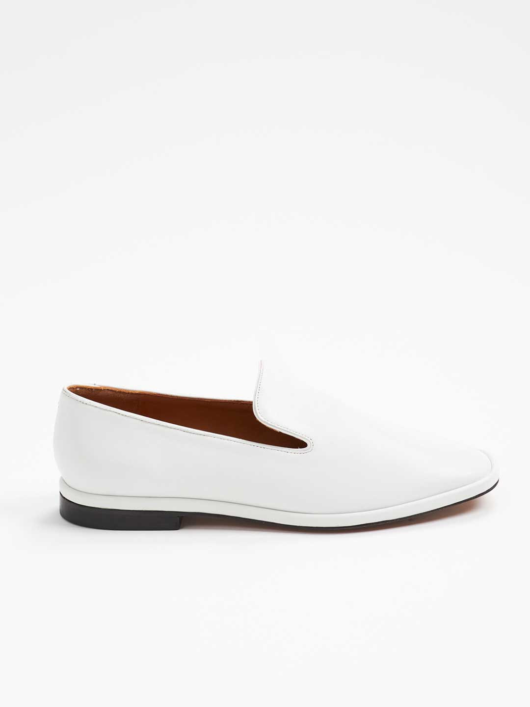 OLYMPIA Smooth Leather Slip-on Shoes - White