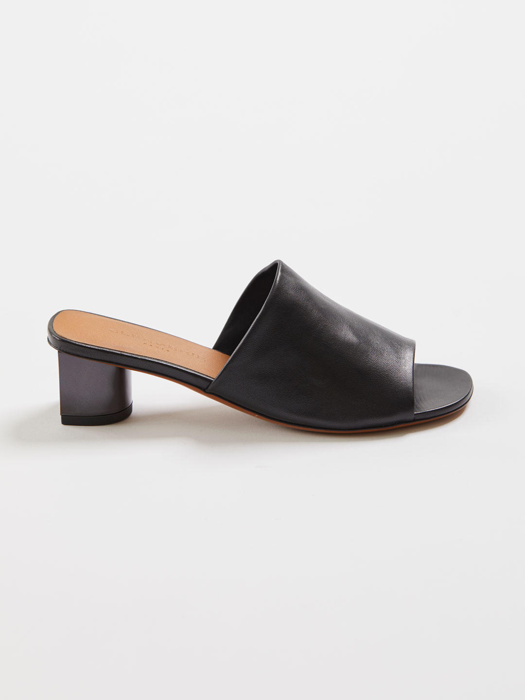LEA5 Middle Heel Mules - Black