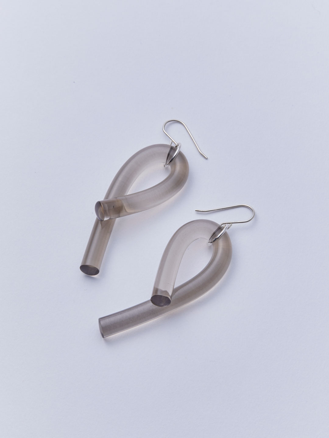 Loop Pierced Earrings - Grey