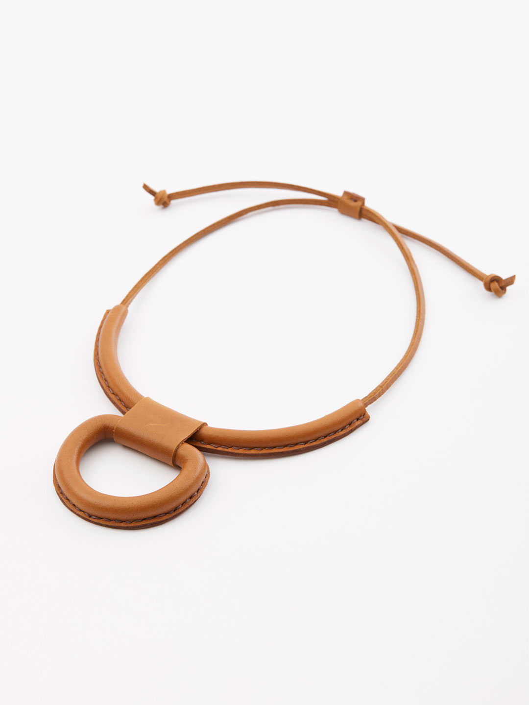 Union Necklace - Saddle Brown