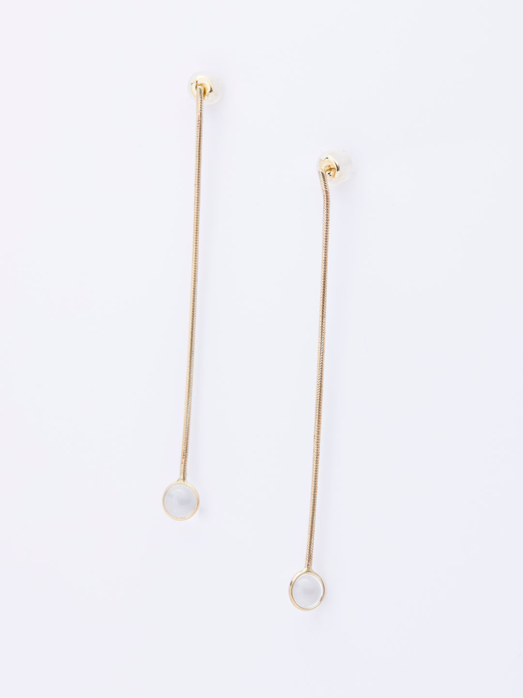 Aura Drops Pierced Earrings - Yellow Gold