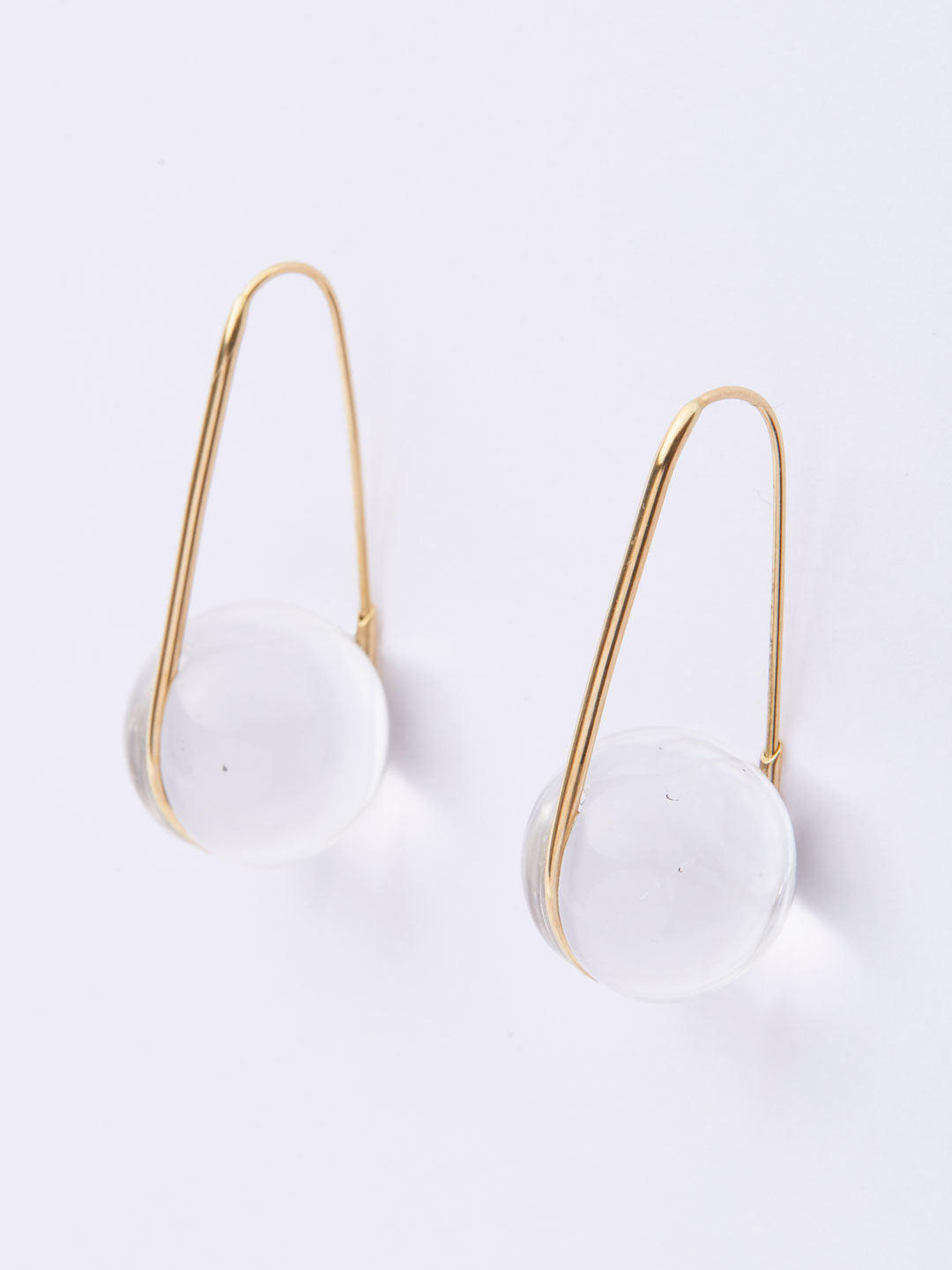 Orbital Drop Pierced Earrings - Yellow Gold