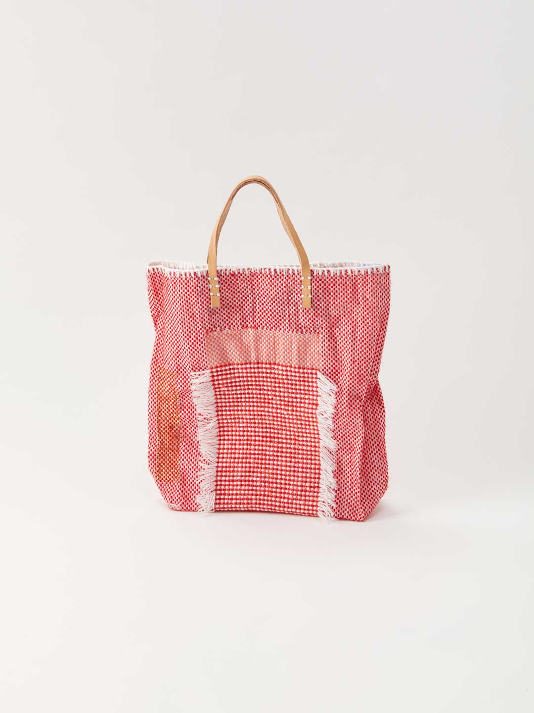 Recycled Food Tote Medium Bag - Red