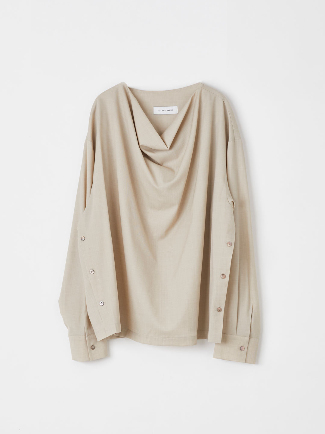 Draping Blouse - Beige