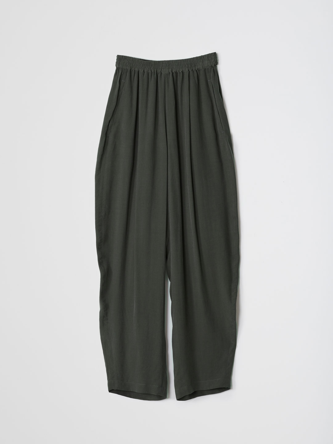 CU/RY Crecent Gathered Pants - Dark Green