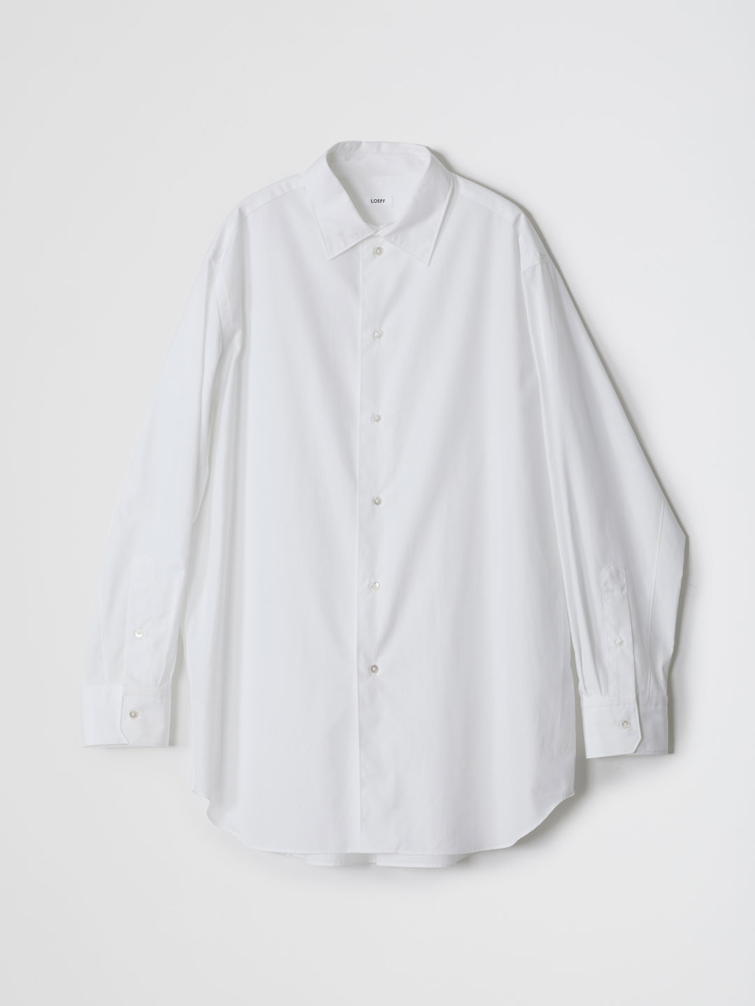 Cotton Broad Loose Fit Regular Shirt - White