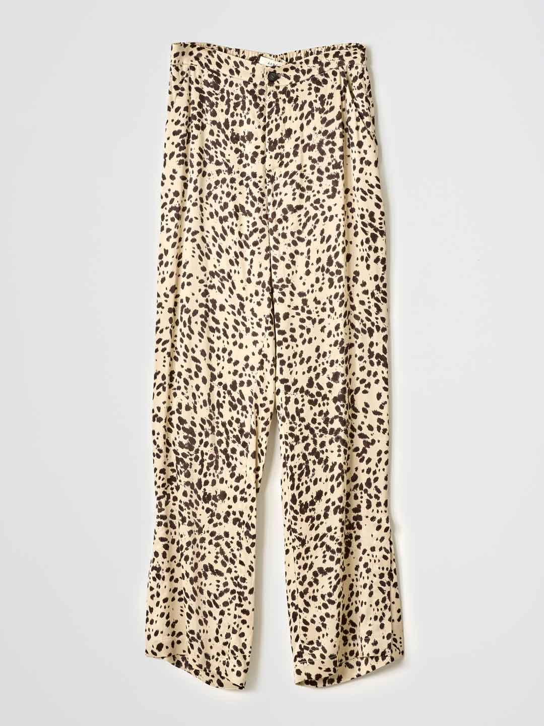 OLENKA / Side Slit Trousers - Beige