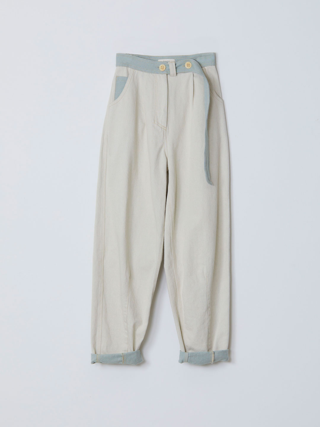 COPPELIA / Belted Utility Jeans - Light Blue