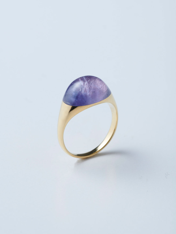 Rock Ring Mini No.3 / Tanzanite - Yellow Gold
