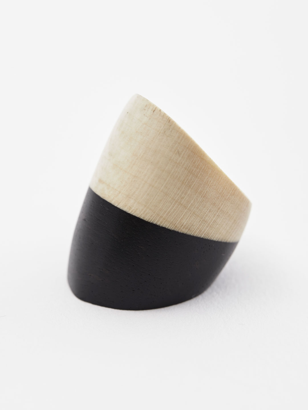 Dome Ring - 2 Tone Black & Natural
