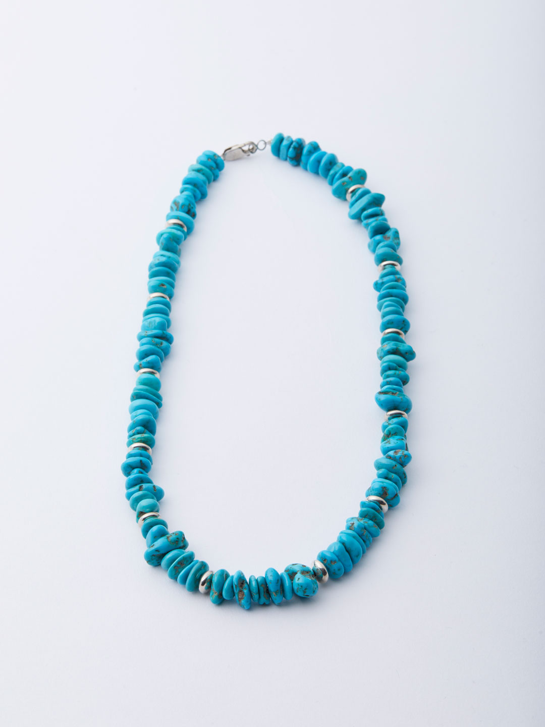 Sleeping Beauty Turquoise Silver Necklace - Blue