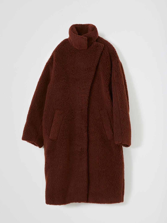 Pearl fur Coat - Brown