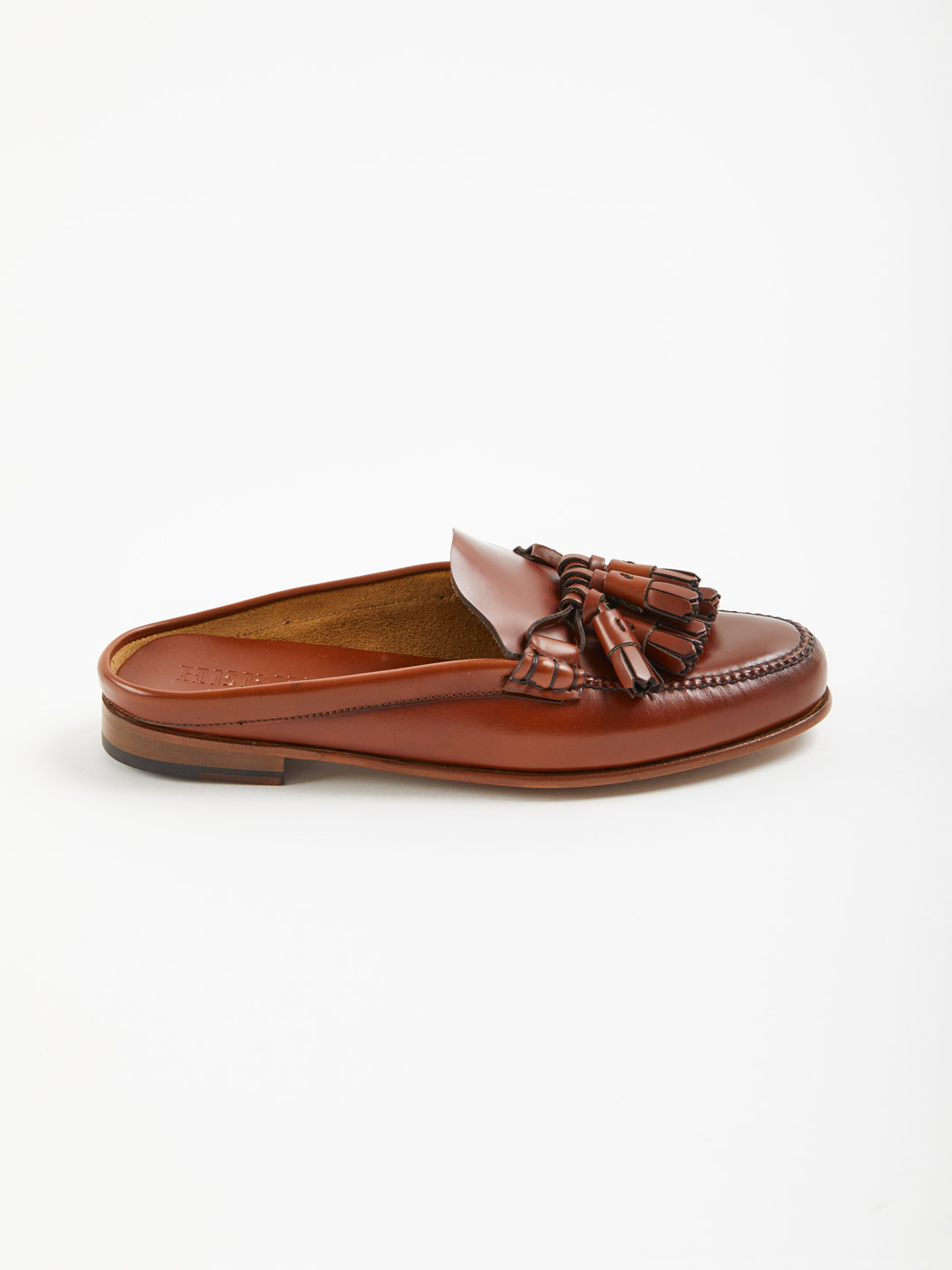 Borlada Tasselled Backless Loafers - Brown