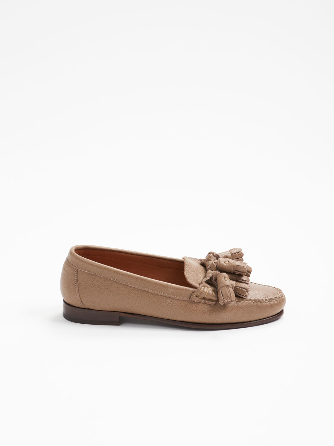 CRESTA Tasselled Loafers - Taupe