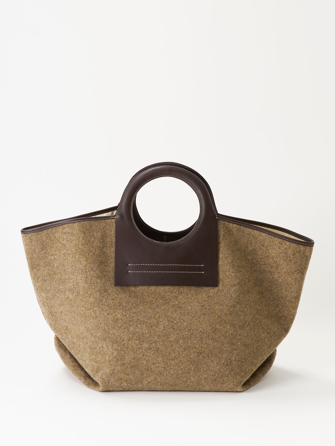 CALA Leather Canvas Tote - Brown