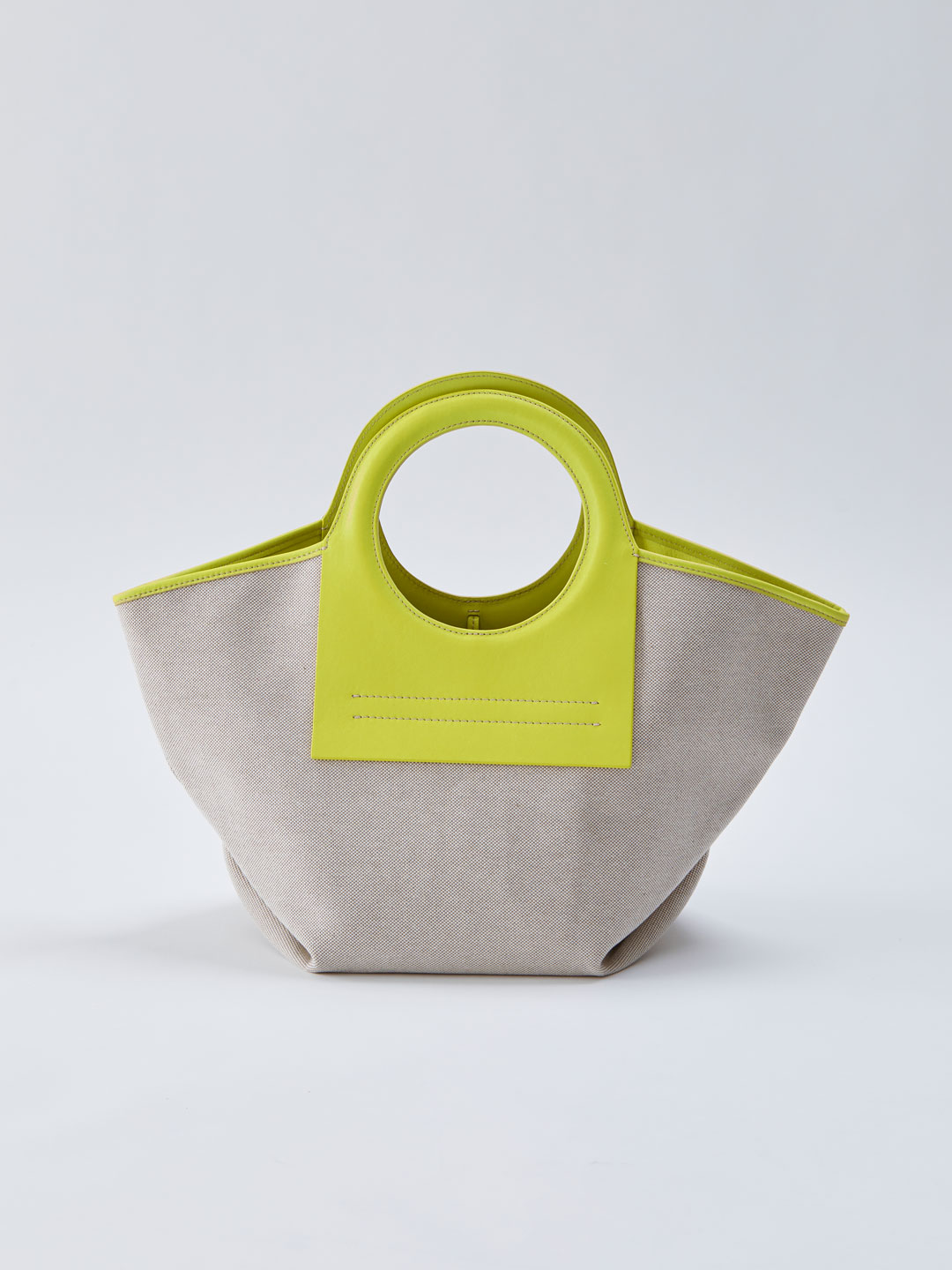 Cala Small Leather-trimmed Canvas Tote - Yellow