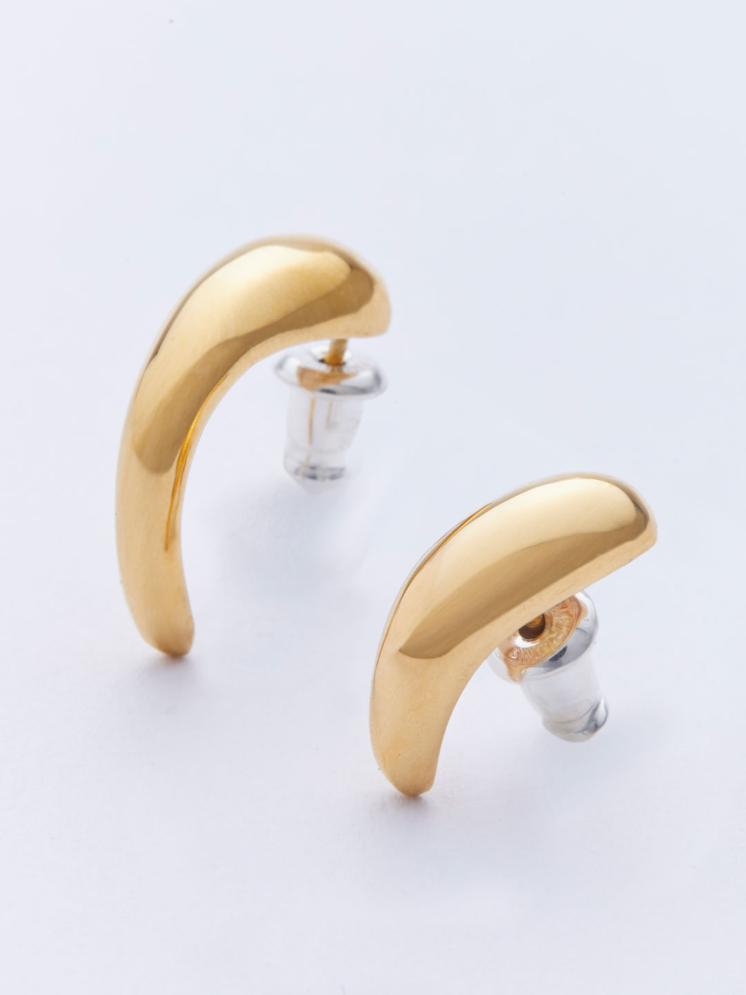 Vuelta Pierced Earrings - Gold