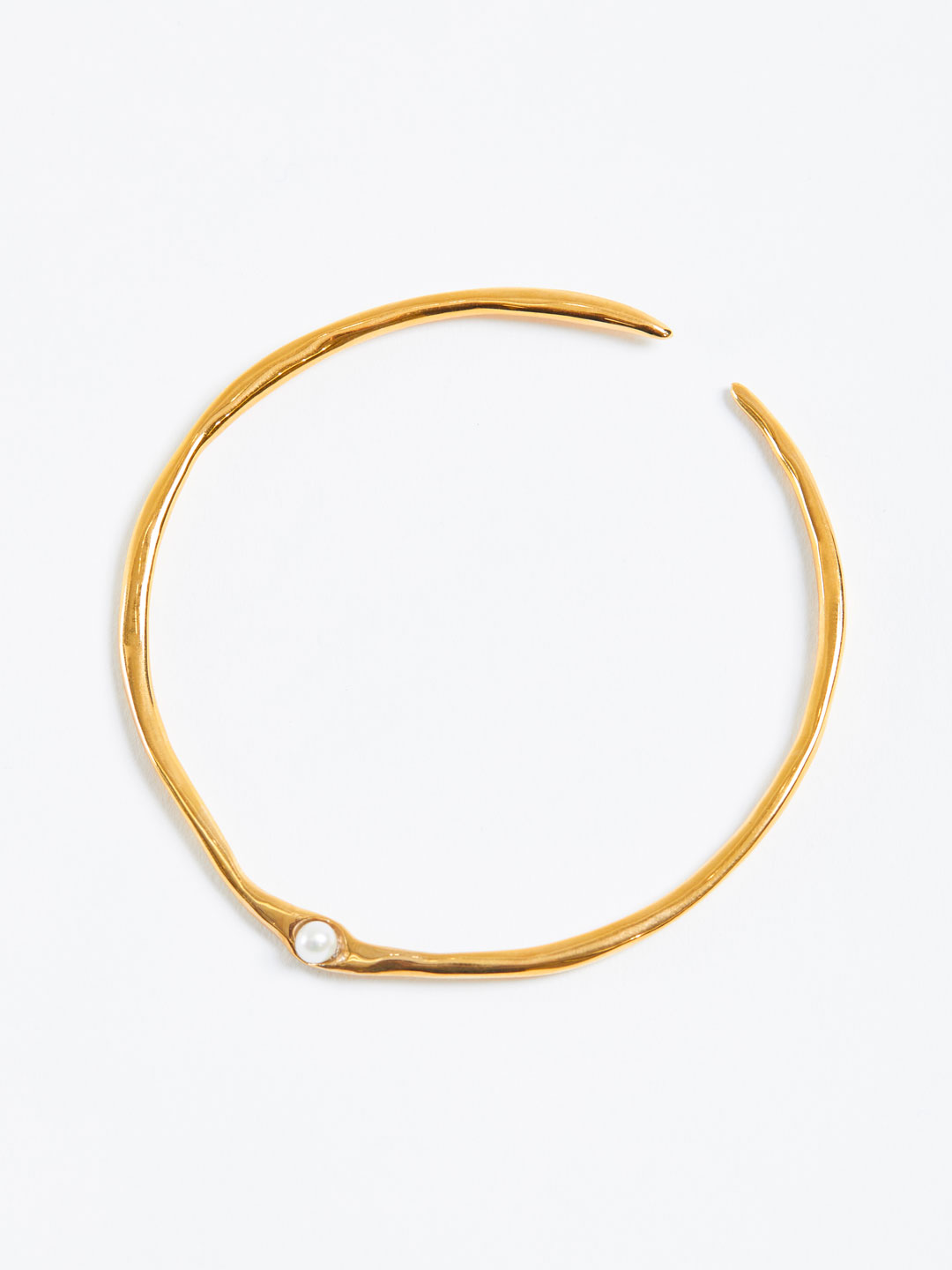 Pearl Arm Cuff - Gold