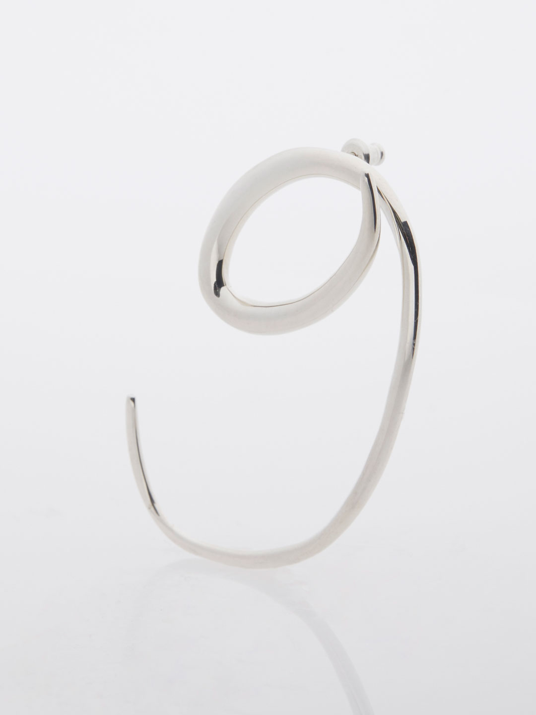 Swirl Ear Piece  - Silver