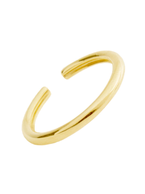Simple Hoop Ear Cuff - 10K Yellow Gold