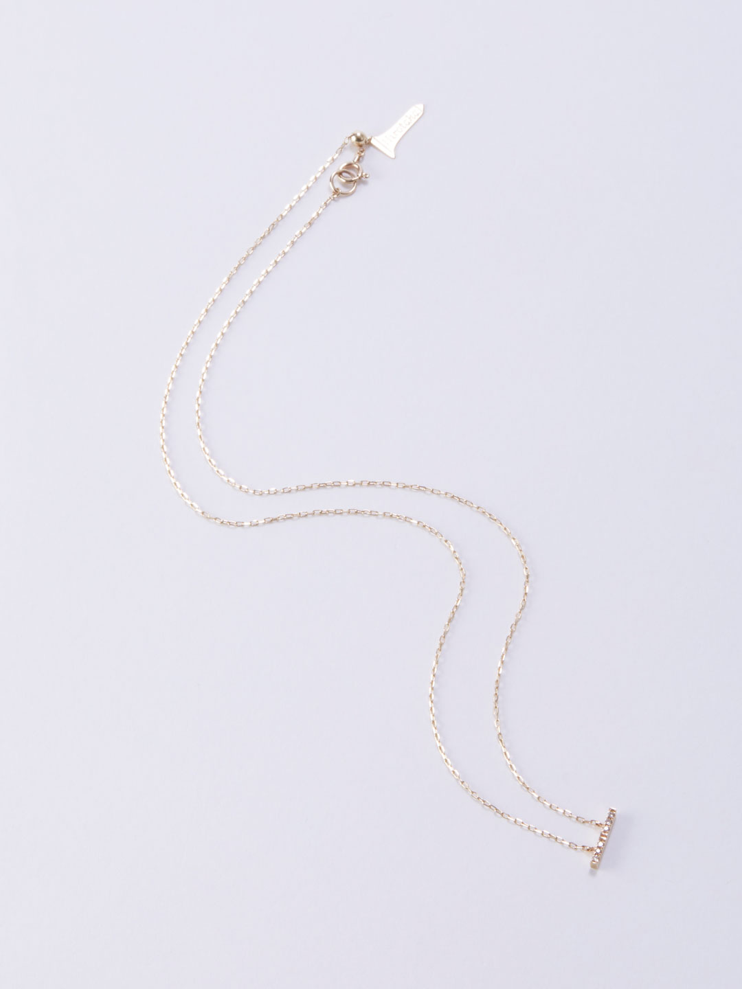 Trapeze Diamond Necklace S  - Yellow Gold