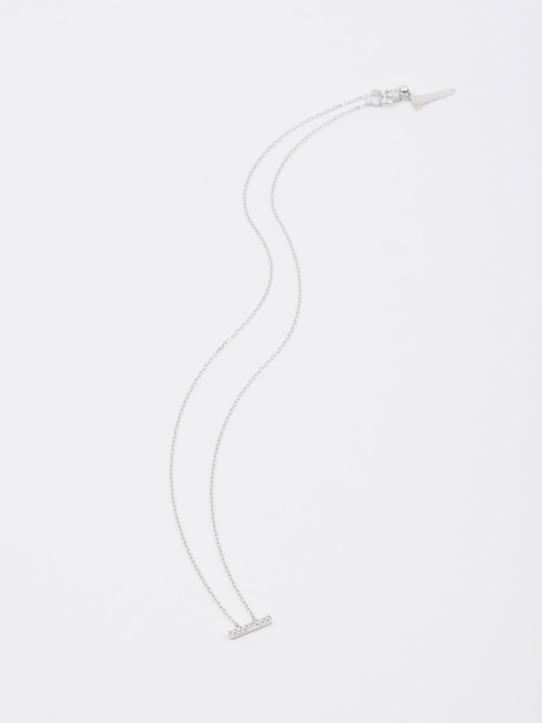 Trapeze Diamond Necklace S - White Gold