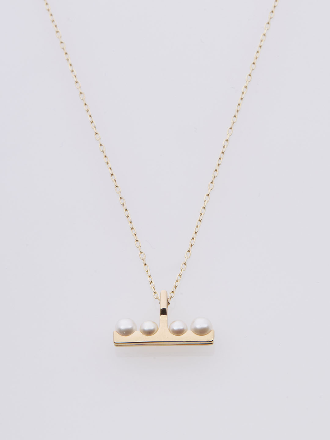 Beluga Pearl Necklace - Yellow Gold
