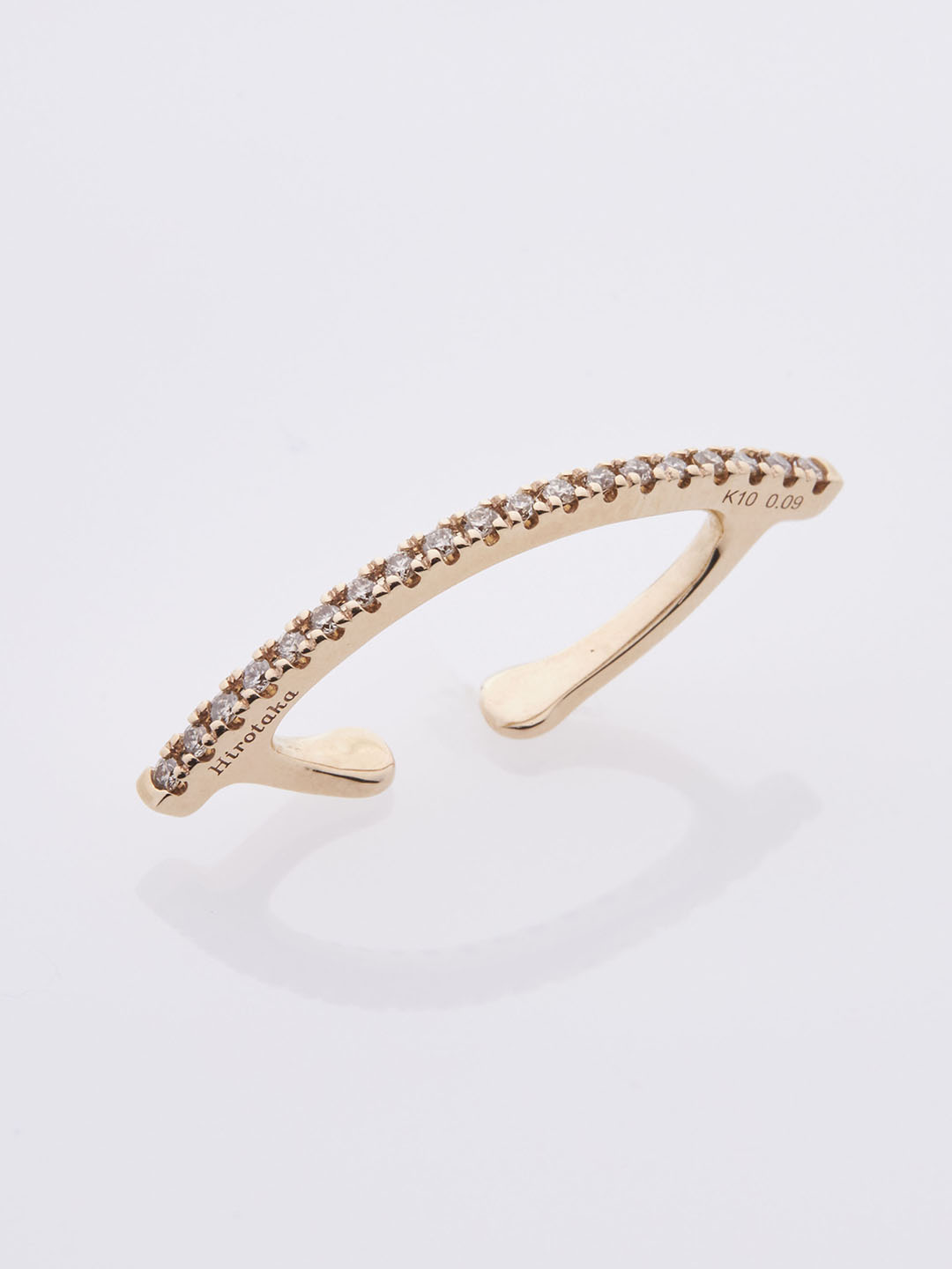 Diamond Bow Ear Cuff - Yellow Gold