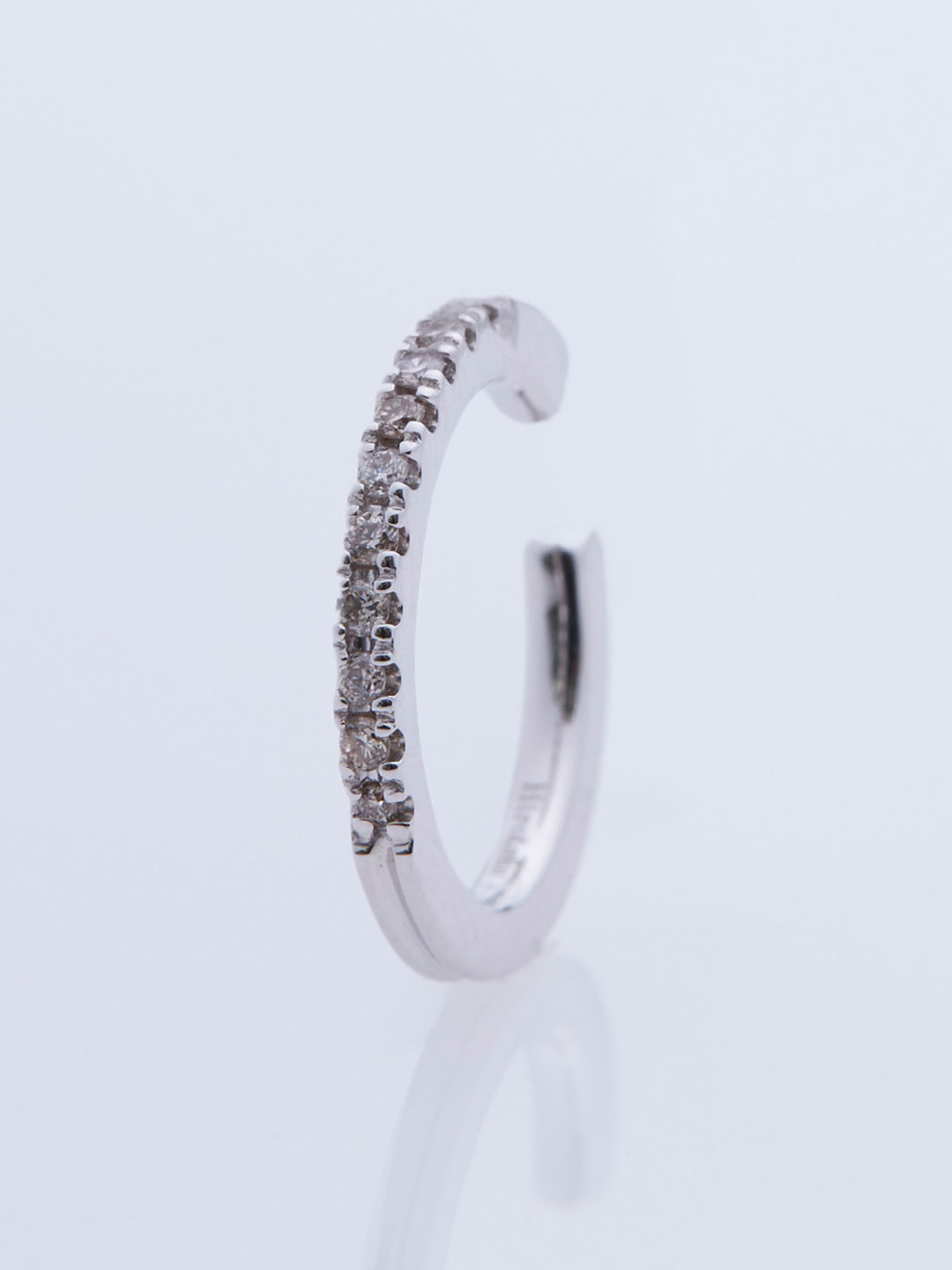 Gossamer Diamond Ear Cuff - White Gold