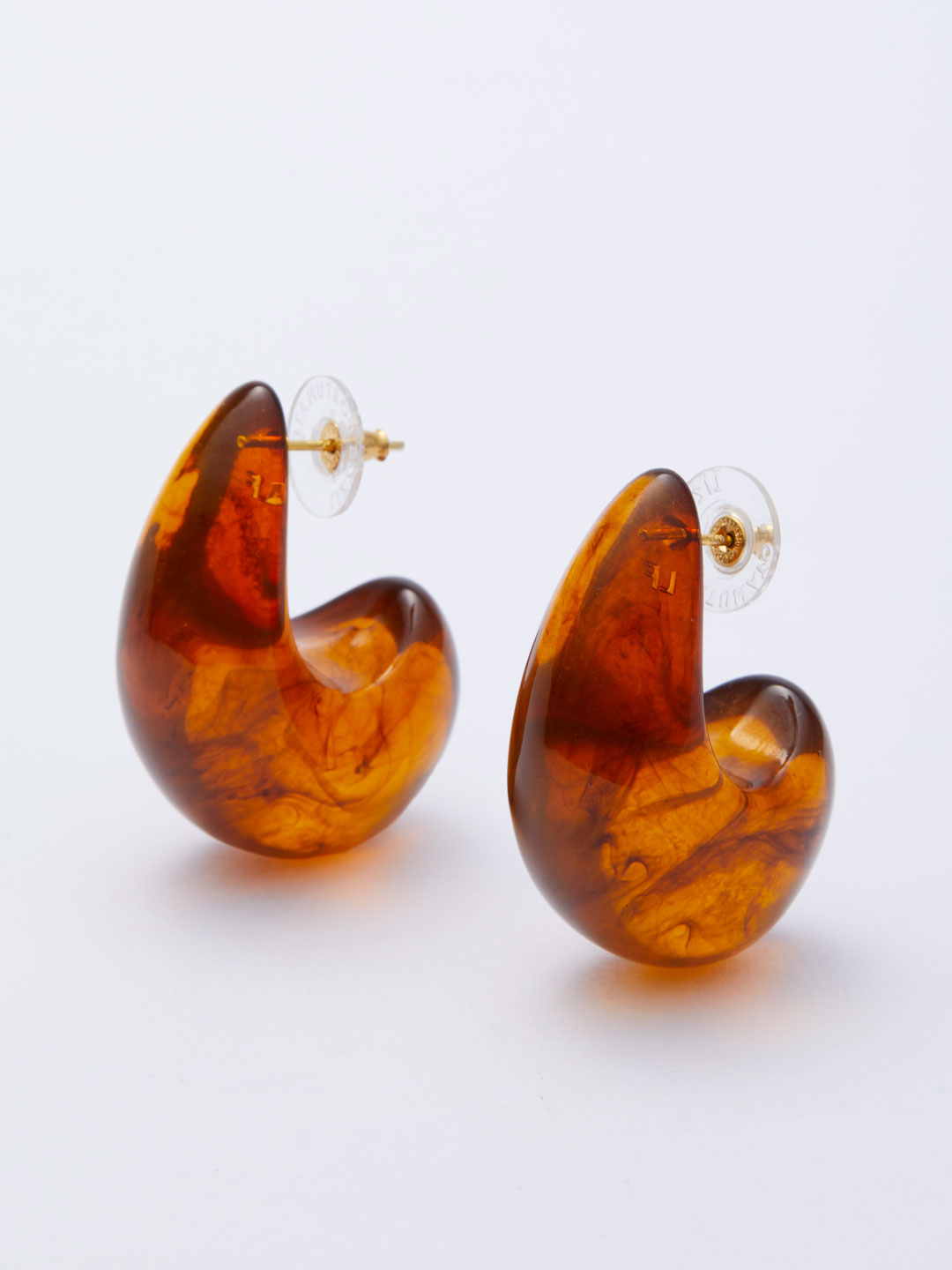 Arp Pierced Earrings - Brown