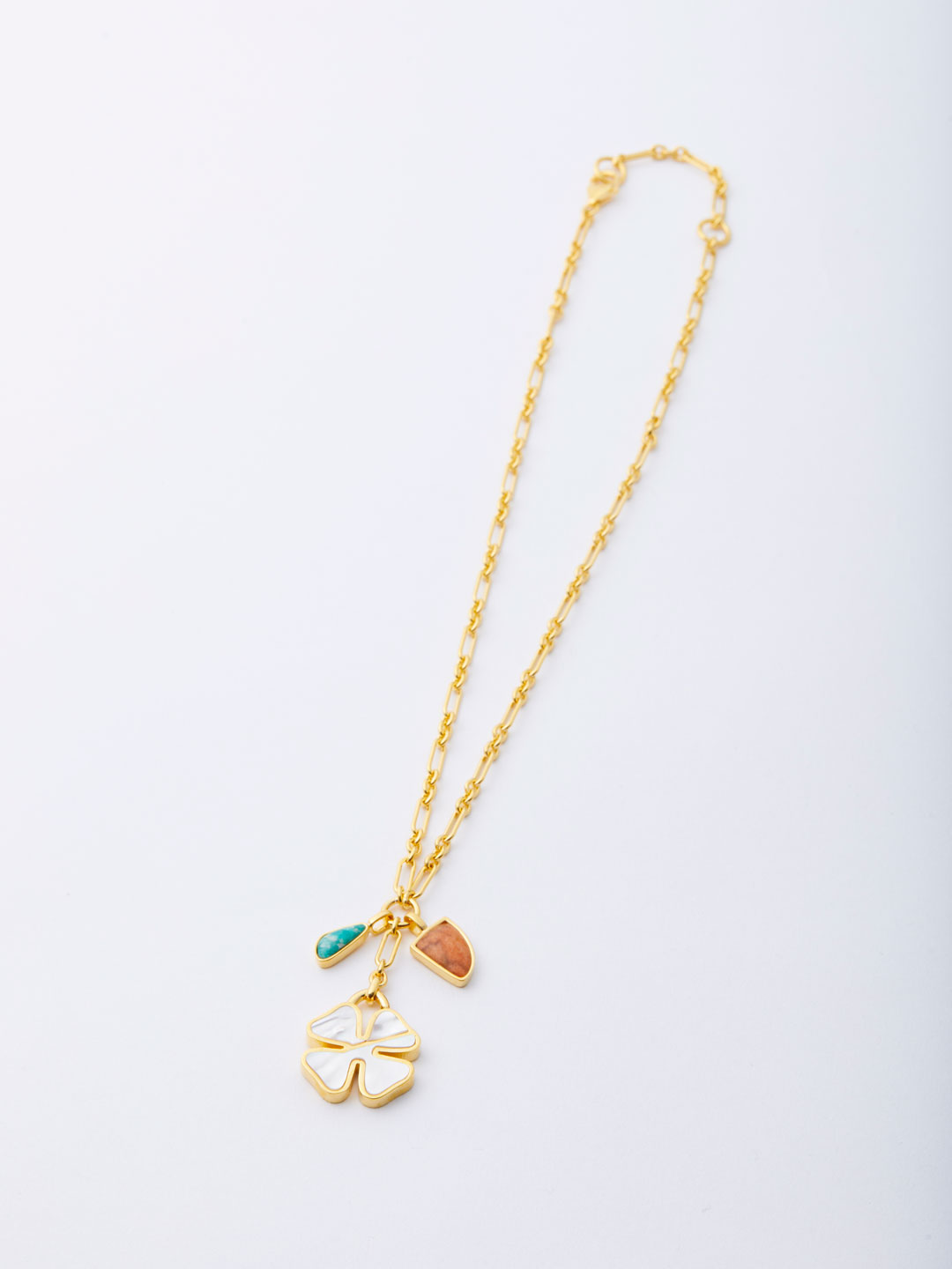 Bonne Chance Charm Necklace - Gold
