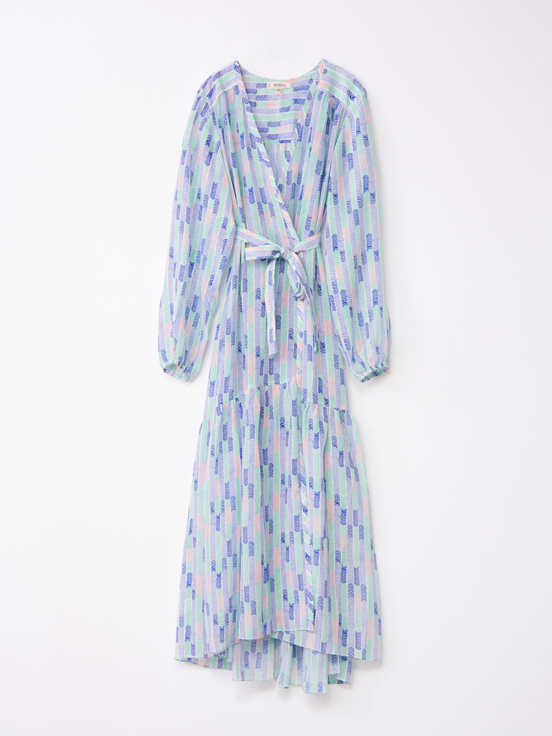 Robe Wrap Dress - Blue