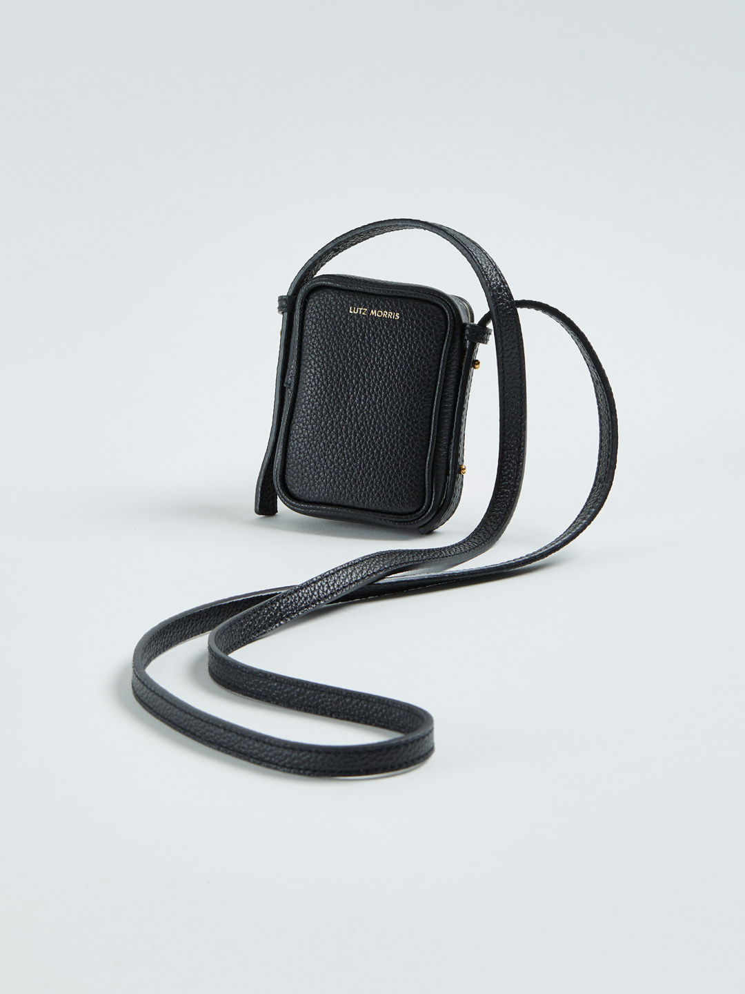 Norman Mini Cross-Body Bag & Necklace - Black