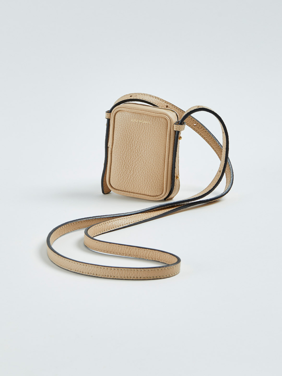 Norman Mini Cross-Body Bag & Necklace - Beige