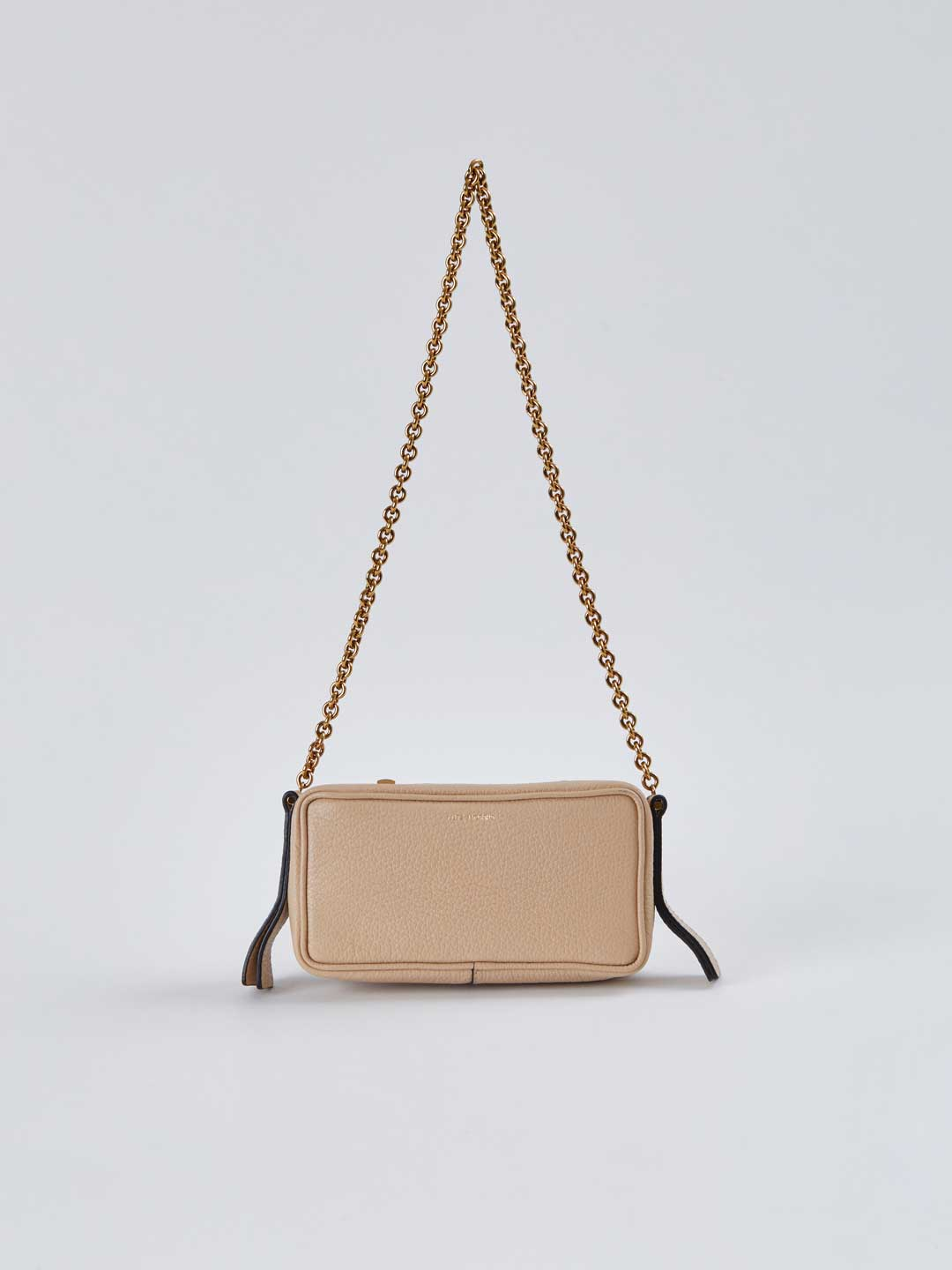Elise Small Shoulder Chain Bag - Beige